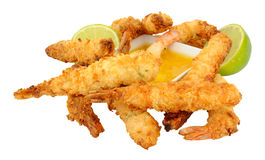 Coconut And Batter Coated Prawns Stock Photo