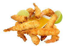 Coconut And Batter Coated Prawns Stock Photography