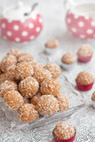 Coconut and biscuits balls Royalty Free Stock Images