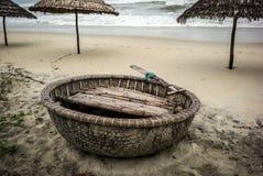 Coconut boats, Vietnam Stock Images