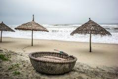 Coconut boats, Vietnam Stock Photos