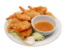 Coconut breaded shrimps Royalty Free Stock Images