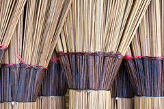 Coconut broom. Closeup of dried coconut leaves brooms Royalty Free Stock Image