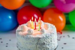 Coconut cake for birthday Stock Photos