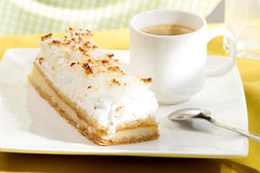 Coconut cake with cream Stock Photography