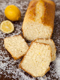 Coconut Cake with lemon syrup. Tasty coconut cake with lemon syrup Stock Image