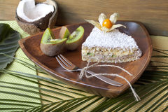 Coconut cake raw food Royalty Free Stock Image