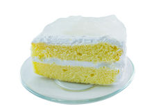 Coconut Cake. On white background Royalty Free Stock Photography
