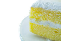 Coconut Cake. On white background Royalty Free Stock Photos