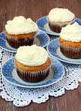 Coconut cakes with frosting Royalty Free Stock Image