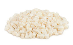 Coconut candied cubes heap Royalty Free Stock Photography