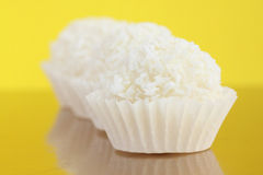 Coconut candies. Close up of coconut candies Royalty Free Stock Photos
