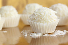 Coconut candies. Close up of coconut candies Stock Photos