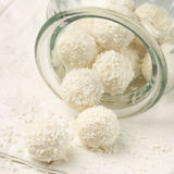 Coconut candies close-up Royalty Free Stock Photo