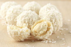 Coconut candies close-up Stock Images