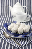 Coconut candies and tea Royalty Free Stock Photography