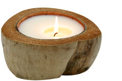 Coconut candle Stock Photography