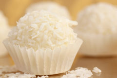 Coconut candy. Close up of coconut candy Stock Photo