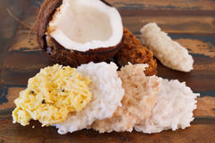 Coconut candy cocada different tastes with coconut Stock Image