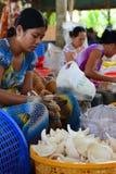 Coconut candy factory. Ben Tre. Mekong delta region. Vietnam Royalty Free Stock Photos