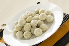 Coconut Cardamon Burfi Stock Photos