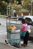 Coconut Cart in Ambato, Ecuador Royalty Free Stock Images