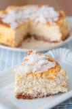 Coconut Cheesecake Stock Photos
