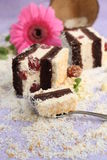 Coconut and cherry cake Royalty Free Stock Photos