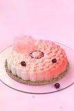 Coconut Cherry Flower Entremet Cake Royalty Free Stock Image