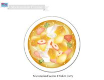 Coconut Chicken Curry, The Popular Dish of Micronesia Stock Image