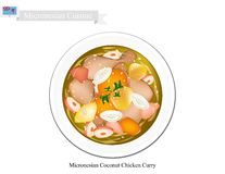 Coconut Chicken Curry, The Popular Dish of Micronesia Royalty Free Stock Image