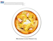 Coconut Chicken Curry, The Popular Dish of Micronesia Royalty Free Stock Photo