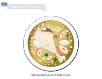 Coconut Chicken Curry, The Popular Dish of Micronesia Stock Photography