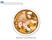 Coconut Chicken Curry, The Popular Dish of Micronesia Stock Photo