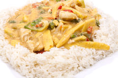 Coconut chicken with rice Stock Image