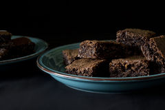 Coconut Chocolate Brownies Royalty Free Stock Images