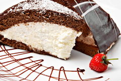 Coconut and chocolate cake Stock Images