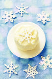 Coconut chocolate cake with butter cream Royalty Free Stock Photography