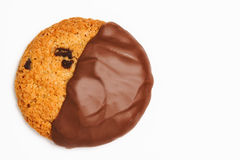 A Coconut and Chocolate Cookie Stock Photo