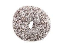 Coconut chocolate donut isolated on white background Stock Image