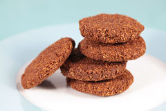 Coconut and chocolate homemade cookies