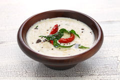 Coconut chutney, indian food Stock Photos