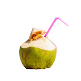 Coconut cocktai on a tropical beach Stock Image
