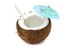 Coconut cocktail Stock Photography