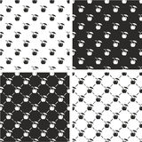 Coconut Cocktail Drink Seamless Pattern Set Royalty Free Stock Photo