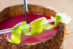 Coconut cocktail with Lime Stock Image