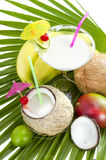 Coconut cocktail. Stock Images