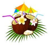 Coconut cocktail stock illustration