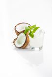 Coconut cocktail on white background Royalty Free Stock Photography