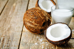 Coconut and coconut milk Royalty Free Stock Photo